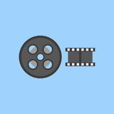 Film vector icon. Color illustration film vector icon Royalty Free Stock Photography
