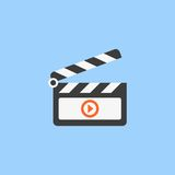 Film vector icon Royalty Free Stock Photography