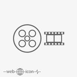 Film vector icon. On grey background Royalty Free Stock Photo