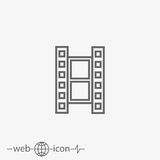 Film vector icon. On grey background Royalty Free Stock Image