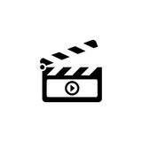 Film vector icon. On white background Royalty Free Stock Image