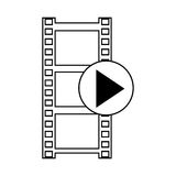 Film , Vector illustration over white background Royalty Free Stock Photos
