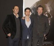 Film-Verfasser werfen auf rotem Teppich für ` Meuchelmörder ` s Kredo ` Premiere auf lizenzfreie stockfotografie