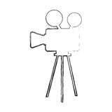 Film video camera icon Stock Images