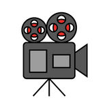 Film video camera icon. Vector illustration design Stock Photos
