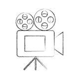 Film video camera icon. Vector illustration design Stock Photo