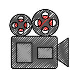 Film video camera icon. Vector illustration design Stock Images