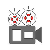 Film video camera icon. Vector illustration design Royalty Free Stock Photos