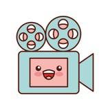 Film video camera kawaii character. Vector illustration design Stock Photos