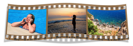 Film with views of the sea Stock Images