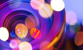 Film. Vision unusual photography royalty free stock photography