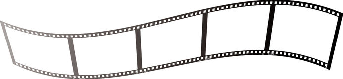 Film wave clear. Illustrated piece of film that could be used as a place holder or background Royalty Free Stock Photo
