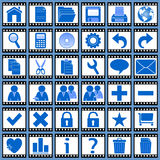 Film Web Icons [1]. 36 website and application icons. Each film-icon is 750x750 pixels. Film Web Icons – Part 1: there are 144 icons in all in this collection Royalty Free Stock Photo