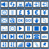 Film Web Icons [3]. 36 website and application icons. Each film-icon is 750x750 pixels. Film Web Icons – Part 3: there are 144 icons in all in this collection Royalty Free Stock Image