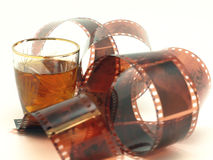 Film and wineglass Stock Image