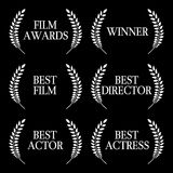 Film Winners Black & White 1 Stock Image