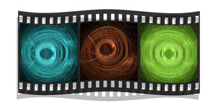 Film With Fractals Isolated On A White Background Royalty Free Stock Images