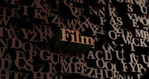 Film - Wooden 3D rendered letters/message. Can be used for an online banner ad or a print postcard Royalty Free Stock Photos
