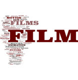Film word cloud. Film gorgeous tag clouds for your design Stock Photo