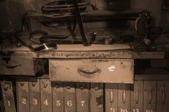 Film workroom in sepia Stock Photos