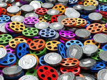 Filma concepto de la colección El cine, película, vídeo aspa fondo fotografía de archivo libre de regalías
