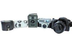 Filma och digitala kameror Arkivfoto