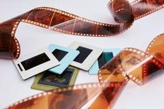 Filma och glidbanor arkivbilder
