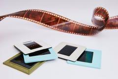 Filma och glidbanor royaltyfri foto