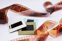 Filma och glidbanor royaltyfri fotografi