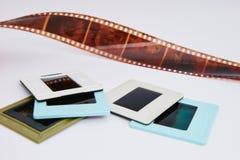 Filma och glidbanor royaltyfria foton