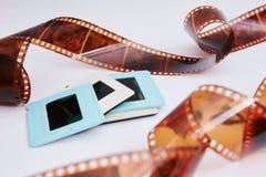 Filma och glidbanor arkivfoton
