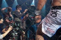 Filmación del guerrero de la película Imagen de archivo