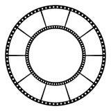 Filmband också vektor för coreldrawillustration Arkivfoto