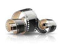 Filmband verdraaide spoel voor bioskoopfilms Royalty-vrije Stock Foto