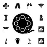 Filmbandikone Ausführlicher Satz Theaterikonen Erstklassiges Grafikdesign Eine der Sammlungsikonen für Website, Netz stock abbildung