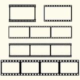 Filmbandsatz Stockfoto