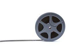 Filmbandspule getrennt auf Weiß Stockfoto