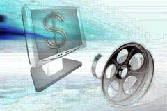 Filmbandspule und -überwachungsgerät Lizenzfreies Stockfoto