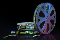 Filmbandspulen Stockbilder