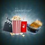 Filmbegrepp stock illustrationer