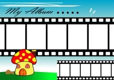 filmchampinjonremsa stock illustrationer
