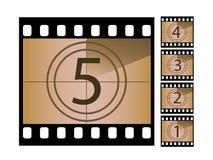 Filmcountdown Lizenzfreies Stockbild