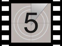 Filmcountdown Lizenzfreie Stockbilder