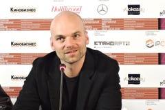 Filmdirektör Thomas Stuber på den 40th MoskvaInternationalfilmfestivalen Fotografering för Bildbyråer