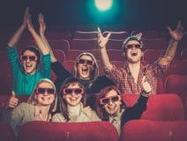 Filme de observação dos povos no cinema Imagem de Stock