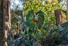 Filme de Universal Studios Jurassic Park do dinossauro fotografia de stock royalty free