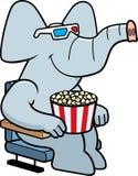 Filme des Karikatur-Elefant-3D vektor abbildung