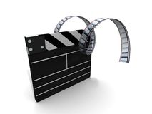 filme do clapperboard Foto de Stock Royalty Free