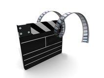 filme do clapperboard ilustração do vetor
