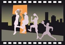 Filme do húmido de Slam em a noite ilustração stock